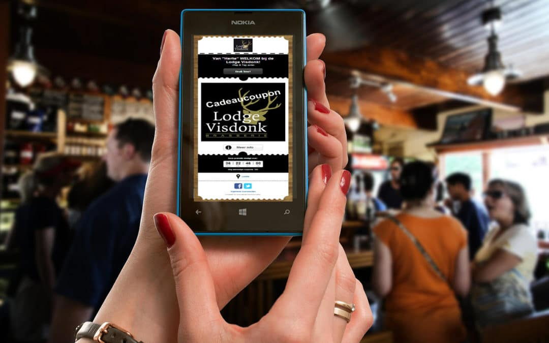 Mobile Coupon verrast in de horeca